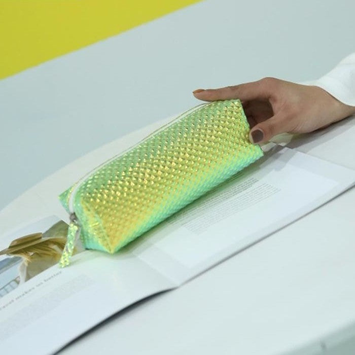 Iridescent Laser Pencil Case