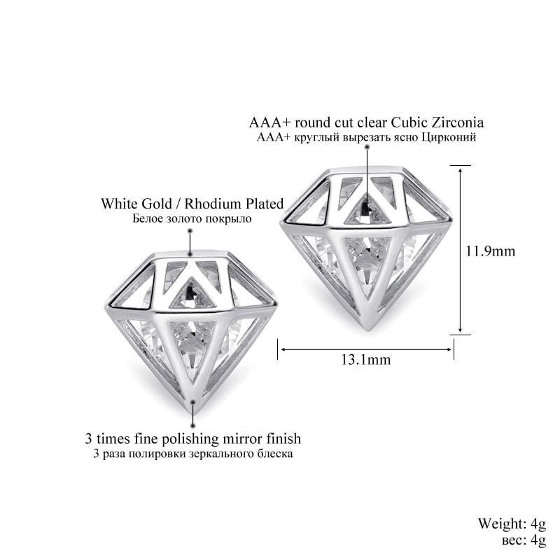 AAA+ Cubic Zirconia Stud Earrings