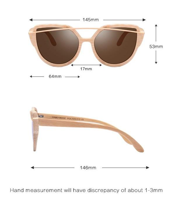 Polarized Bamboo Handmade Sunglasses