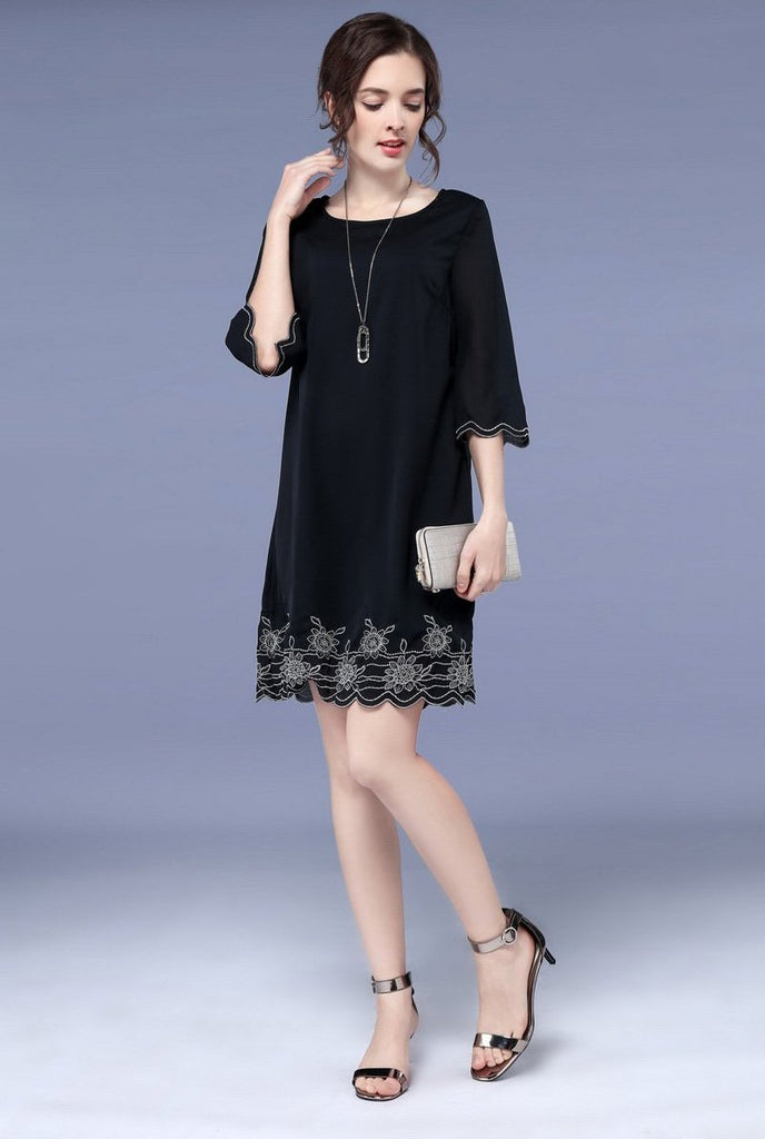 Chiffon Embroidery Dress
