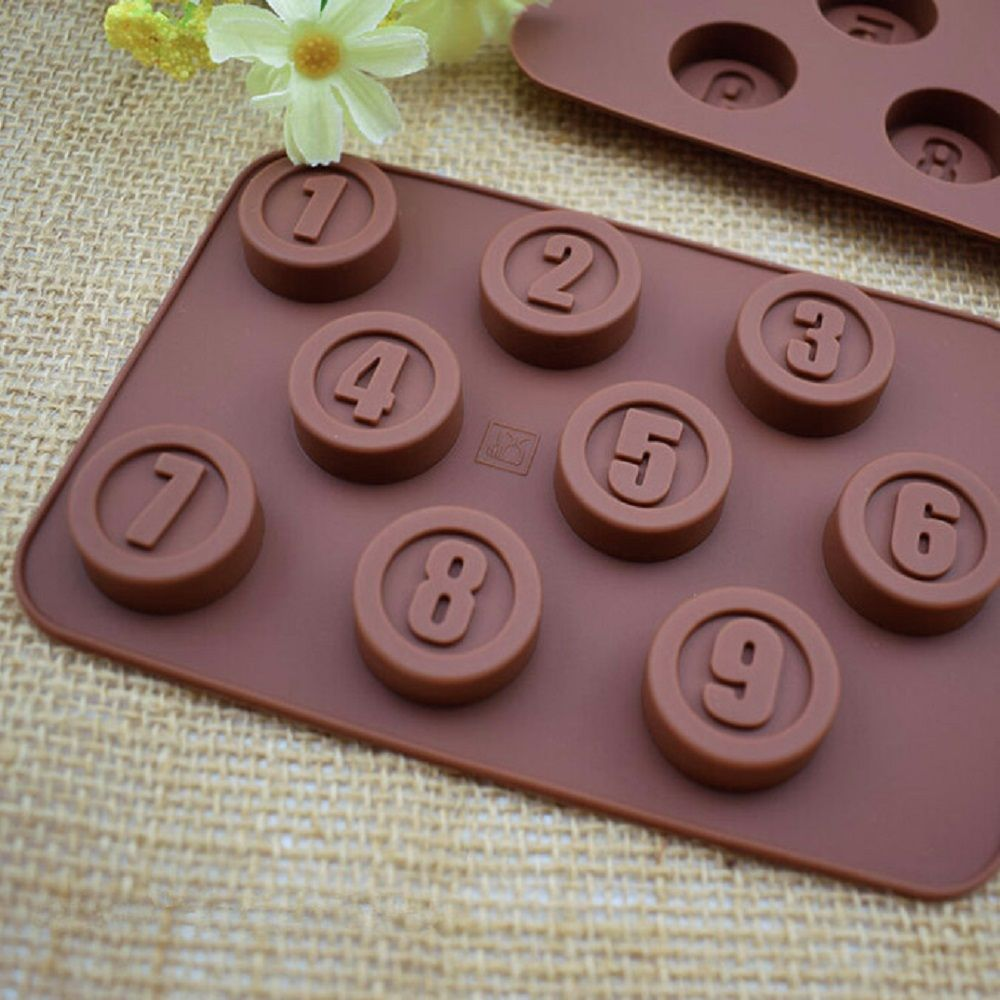 3D Silicone Numbers Chocolate Mold