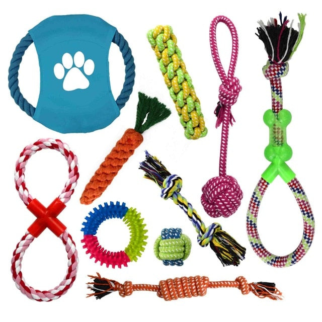 10Pcs Rope Dog Toy