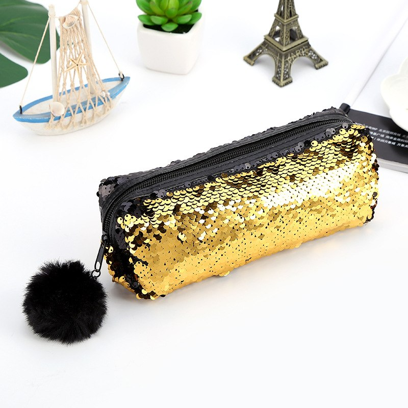 Reversible Sequin Pencil Case
