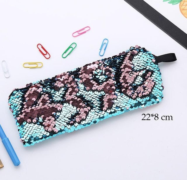 Reversible Sequins Pencil Case