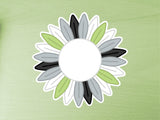 Agender Pride Sunflower 10cm Vinyl Sticker