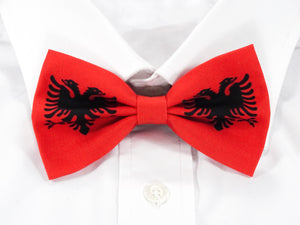 Albanian Flag Pre-Tied Bow Tie