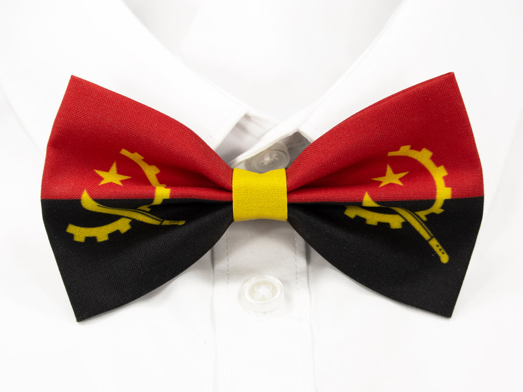 Angolan Flag Pre-Tied Bow Tie