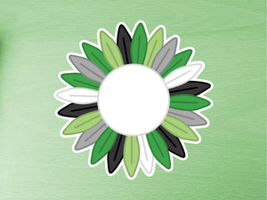 Aromantic Pride Sunflower 10cm Vinyl Sticker