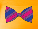 Bisexual Pride Flag Bow Tie 8cm Vinyl Sticker