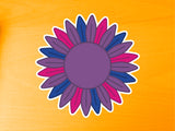 Bisexual Pride Sunflower 10cm Vinyl Sticker