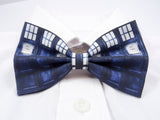 Blue Police Box Pre-Tied Bow Tie (DISCONTINUED)
