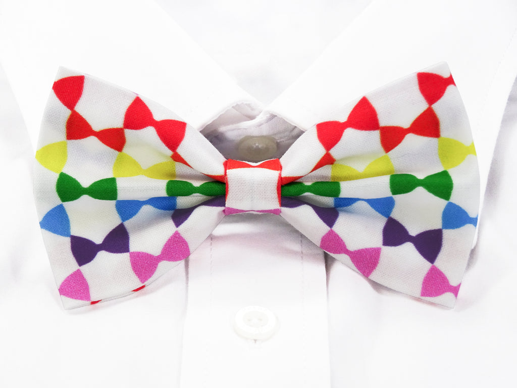 Rainbow Bow Ties Pre-Tied Bow Tie (DISCONTINUED)