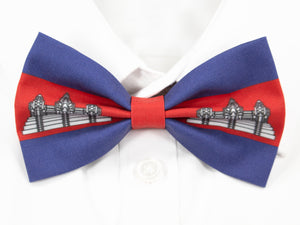 Cambodian Flag Pre-Tied Bow Tie