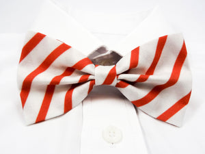 DISCONTINUED Christmas Candycane Stripes Pre-Tied Bow Tie