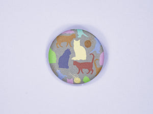 Cat Silhouettes 38mm Button Badge