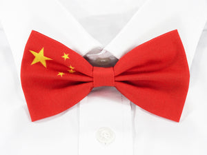 Chinese Flag Pre-Tied Bow Tie