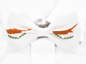 Cyprus Flag Pre-Tied Bow Tie