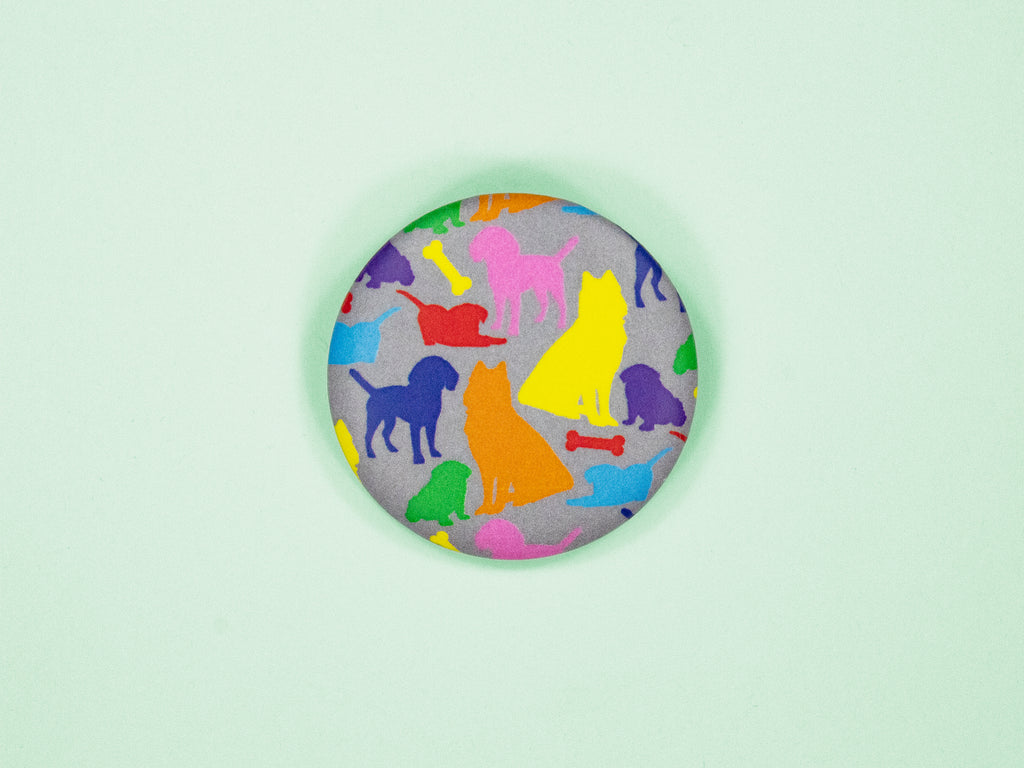 Dog Silhouettes 38mm Button Badge