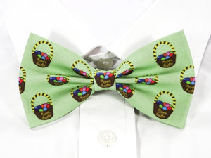 DISCONTINUED Easter Egg Basket Pre-Tied Bow Tie