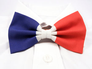 French Flag Pre-Tied Bow Tie