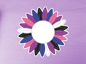 Genderfluid Pride Sunflower 10cm Vinyl Sticker