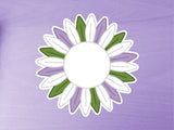 Genderqueer Pride Sunflower 10cm Vinyl Sticker