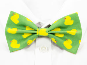 Rubber Duck Pre-Tied Bow Tie (Green)