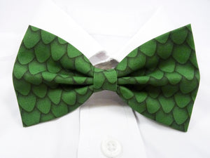 Green Dragon Scales Pre-Tied Bow Tie (DISCONTINUED)