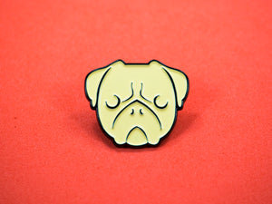 SECONDS Pug Enamel Pin