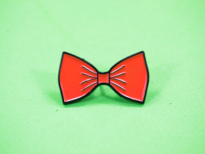 Orange Bow Tie Enamel Pin