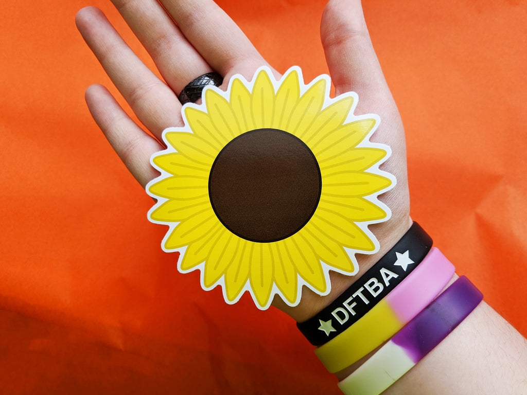 Sunflower 10cm Vinyl Sticker