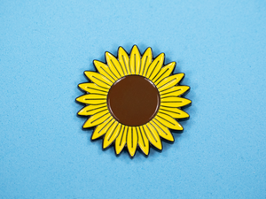 SECONDS Sunflower Enamel Pin