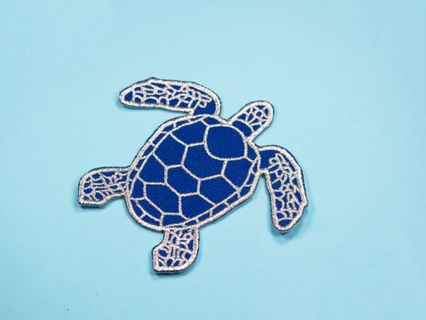Large Sea Turtle Iron-On Patch (10cm / 3.9 inches)