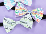 They Them Theirs Pre-Tied Bow Tie in Agender Pride Flag Colours