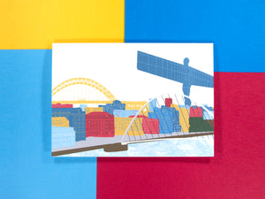 Newcastle Skyline A5 Greeting Card