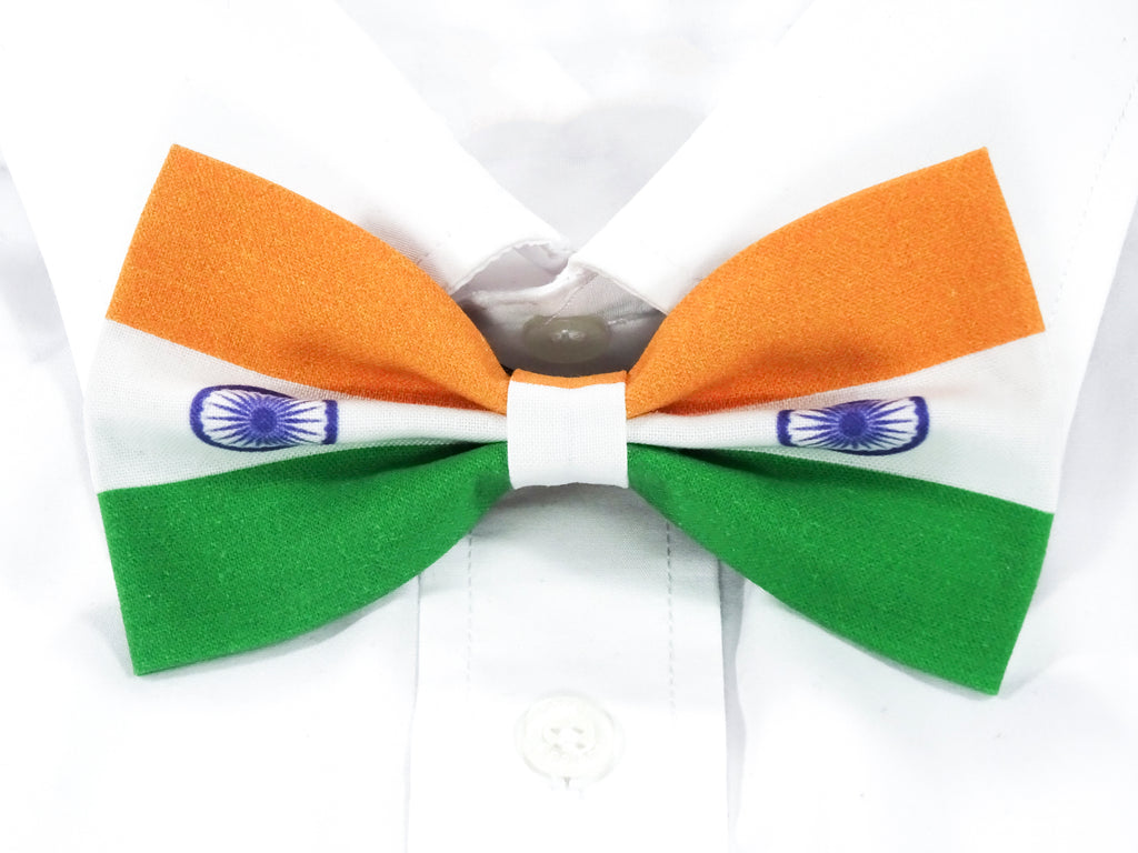 Indian Flag Pre-Tied Bow Tie