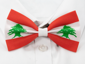 Lebanese Flag Pre-Tied Bow Tie