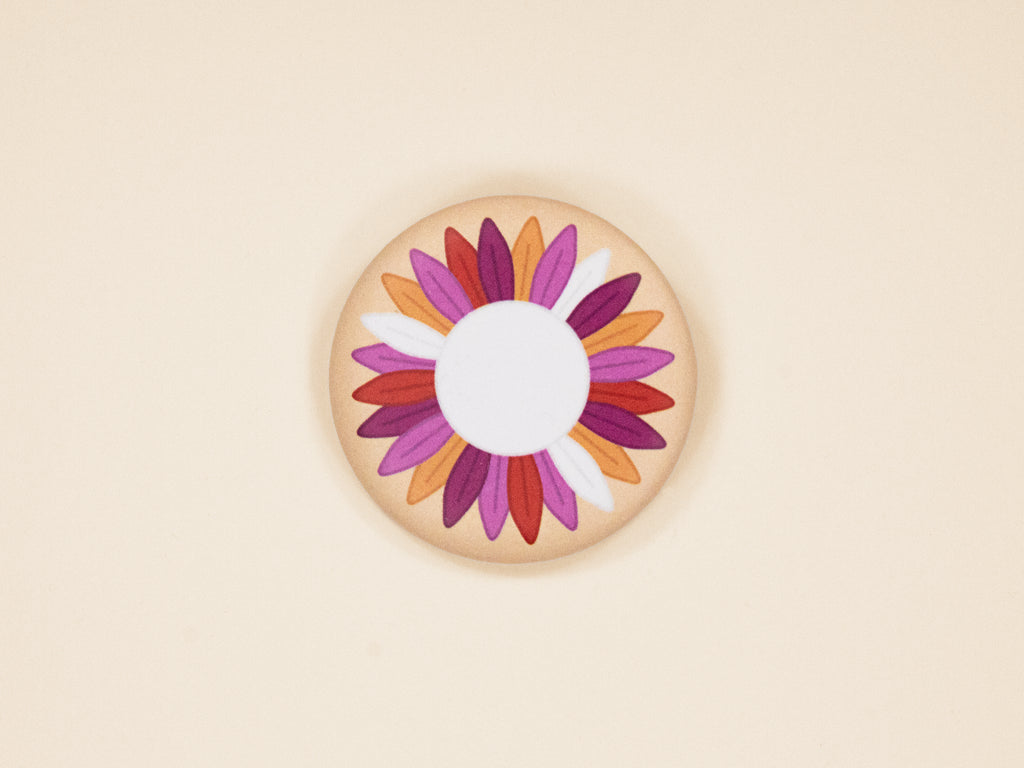 Lesbian Pride Sunflower 38mm Button Badge