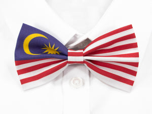 Malaysian Flag Pre-Tied Bow Tie