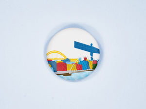 Newcastle Skyline 38mm Button Badge