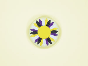 Non Binary Pride Sunflower 38mm Button Badge
