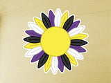 Non Binary Pride Sunflower 10cm Vinyl Sticker