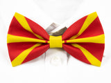 North Macedonian Flag Pre-Tied Bow Tie