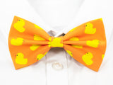 Rubber Duck Pre-Tied Bow Tie (Orange)