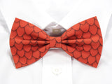 Orange Dragon Scales Pre-Tied Bow Tie (DISCONTINUED)