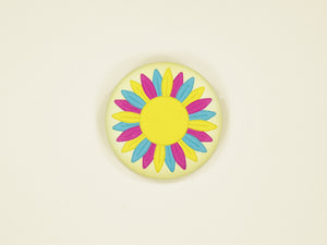 Pansexual Pride Sunflower 38mm Button Badge