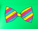 Pansexual Pride Flag Bow Tie 8cm Vinyl Sticker