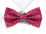 Pink Dragon Scales Pre-Tied Bow Tie (DISCONTINUED)