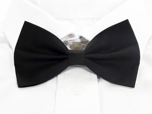 Plain Black Pre-Tied Bow Tie (DISCONTINUED)