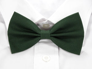 Plain Dark Green Pre-Tied Bow Tie (DISCONTINUED)